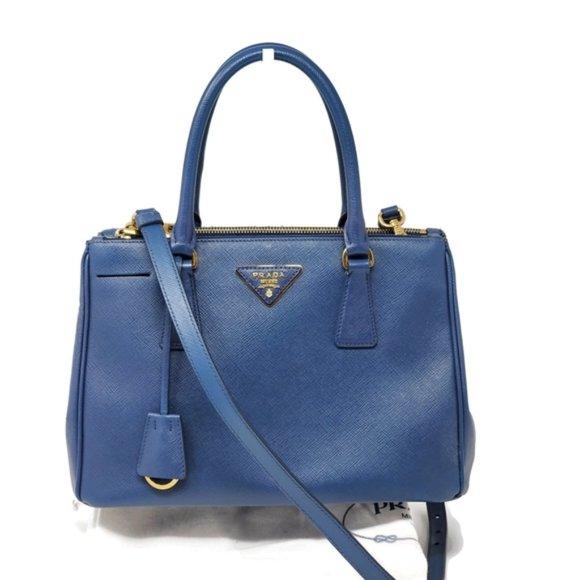 Prada Handbags - Auth Prada Small Galleria Saffiano Crossbody Bag